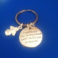 'I'll hold you in my heart, until I hold you in heaven'. key ring Memory, angel