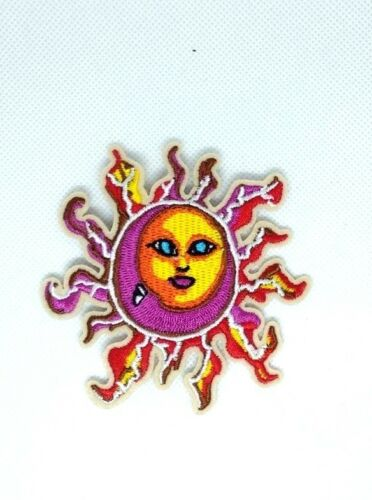 SUN smile face sun baby  fire light hot EMBROIDERED IRON-ON PATCH 243