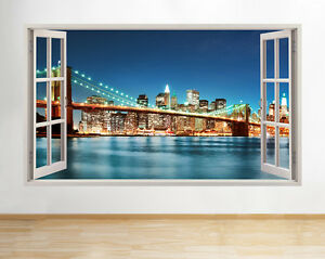 Wall stickers new york city scene nyc night decal poster d art