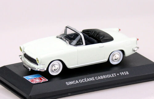 SIMCA Oceane Cabriolet Beige//Bianco 1958 1:43 Ixo//Altaya modello di auto//DIE-CAST