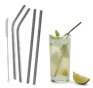 Reusable Stainless Steel Drinking Straws Metal for 30 OZ 20 OZ Yeti Rtic Tumbler