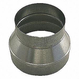 GREENSEAM GRR8P4PGA26 Reducer, 8 in x 4 in Duct Dia, Galvanized Steel, 26 GA, 8