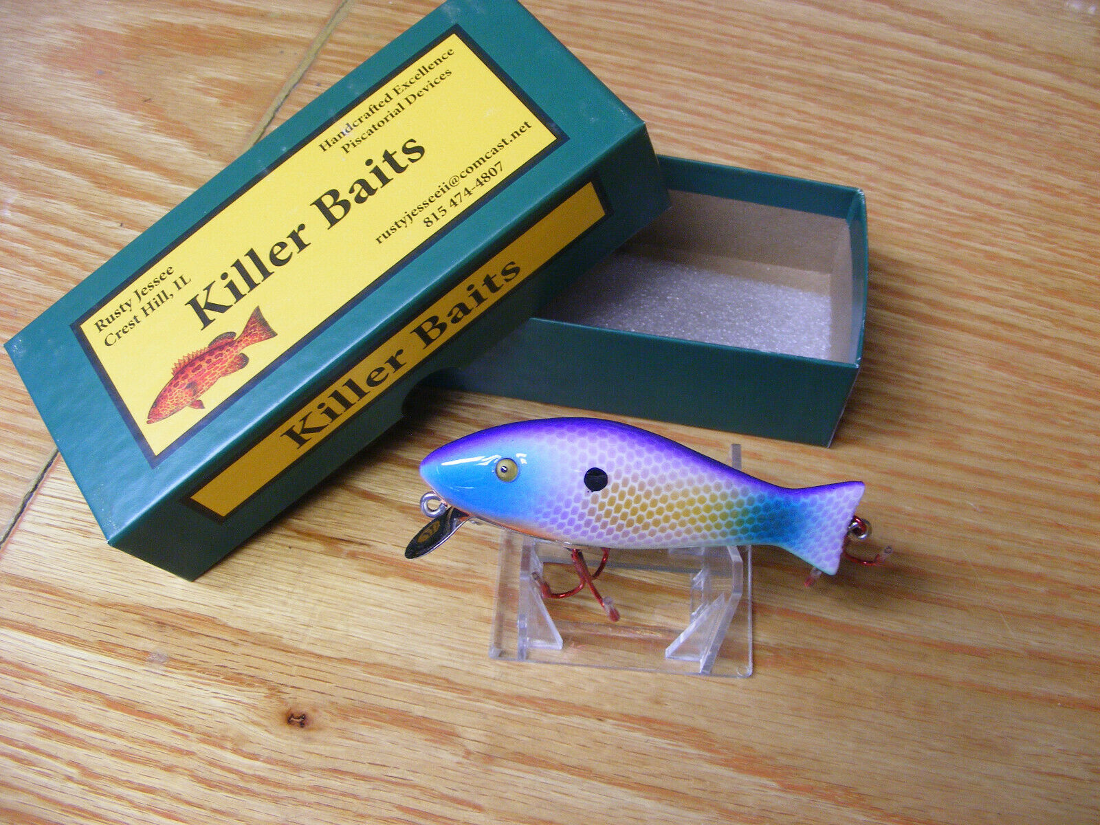 Killer Baits Rusty  Jessee Paw Paw Style Glasseye Caster in Easter Egg color  online shop