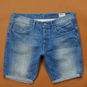 Straight Summer Raw Medium Aged Short's 3301 G 12 Star Men's Denim qTw8tpP1x