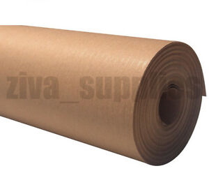 Brown kraft wrapping paper 600mm roll 50 metres heavy for Brown craft paper rolls