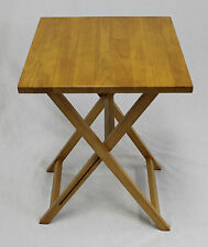 Ez Folding Tv Tray Square Top Table - Hard Wood in Pecan
