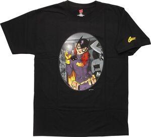 T Comics nera Babs Batgirl Selfie Mirror Grahitti di shirt Dc XFwvOqdq