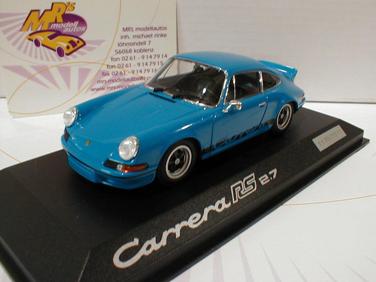 Minichamps WAP 0201420H Porsche Carrera RS 2.7 Baujahr 1973 in   blue   1 43