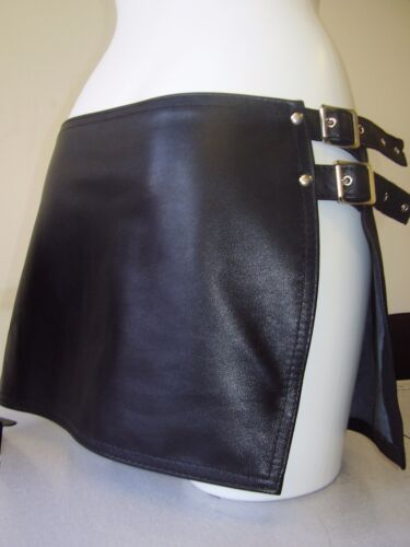 THE FEDERATION FAUX LEATHER GLADIATOR STYLE MINI SKIRT ALL SIZES NEW PLUS SIZES