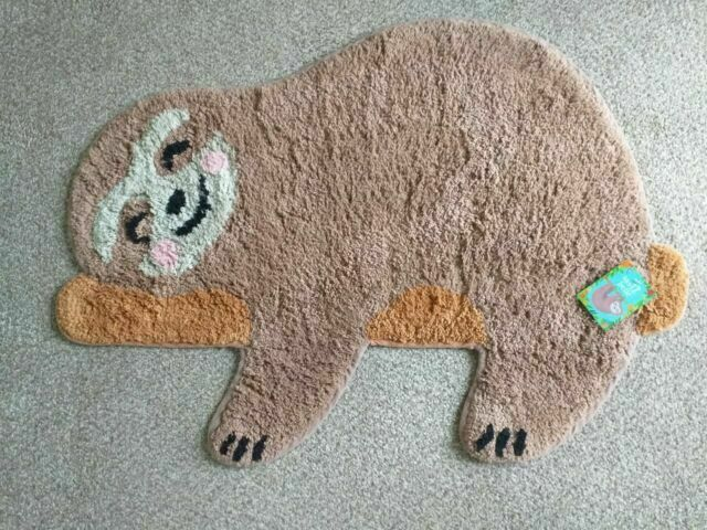 Area Rugs Sass Belle Happy Sloth Chill Zone Rug Sisal Seagrass Area Rugs