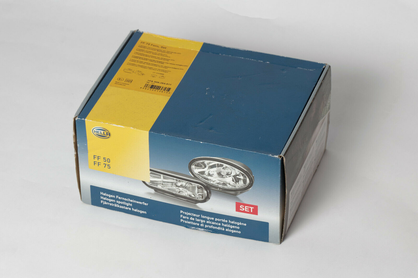 li.+re HELLA 1FA 008 284-811 Fernscheinwerfersatz Halogen FF 75 Set 12 V