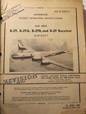 Original Boeing B-29 Superfortress Flight Operating Manual Randolph Field Texas