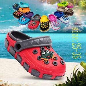Kids-Baby-Girls-Boy-Toddler-Sandals-Slippers-Beach-Clogs-Pumps-Cartoon-Shoes-New