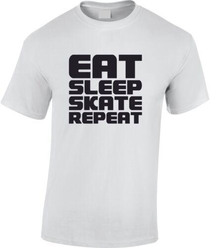 Eat Sleep Skate Repeat Children/'s T-Shirt Kid/'s Skating Skateboard Gift Inline