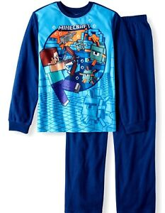 MineCraft 6 7 8 10 12 S M L XL Boys 2 Piece Thermal Underwear Set New Sleepwear