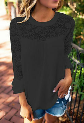 New Women Summer Lace Vest Top Sleeveless Blouse Casual Tank Tops T-Shirt Top