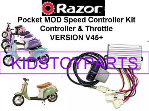 NOS Razor POCKET MOD V45 ESC Kit NEW ELECTRONIC SPEED CONTROLLER + THROTTLE