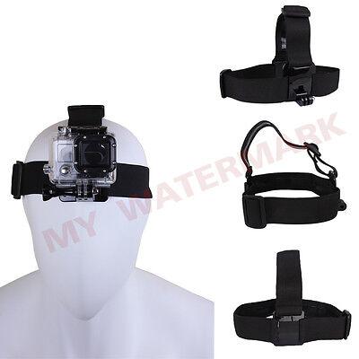 Elastic Adjustable Head Strap Belt Mount For GoPro Hero 4 3+ 3 2 1 Accessories