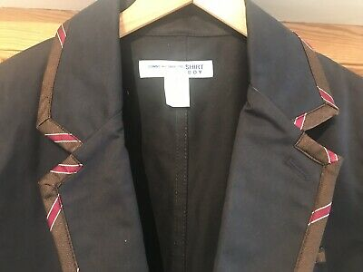 Comme des Garçons da Uomo Large Blu Navy Cotone Seta, BlazerGiacca Camicia Nuova (ragazzo)   eBay