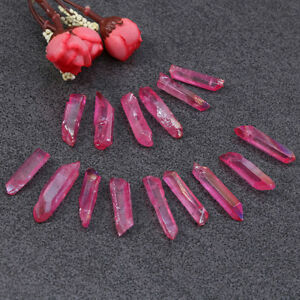 Natural-Rose-red-Aura-Lemurian-Seed-Quartz-Crystal-Stones-Point-Specimen