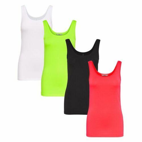 ONLY Damen Top Onllive Live Love Tank Top neon Shirt
