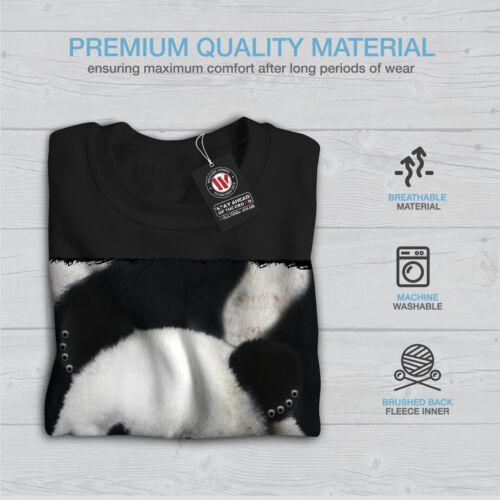 Wellcoda Giant Panda Bear Mens Sweatshirt Jungle Life Casual Pullover Jumper