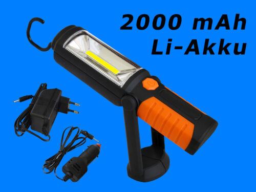 COB LED Akku Werkstattlampe Arbeitslampe Taschenlampe Extrem Super-Hell C6817