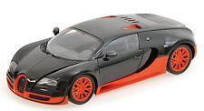 Minichamps 1:18 2011 Bugatti Veyron Super Sport, carbon/orange