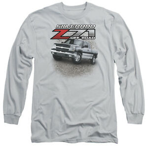 CHEVY-Z71-SILVERADO-Licensed-Adult-Men-039-s-Long-Sleeve-Graphic-Tee-Shirt-SM-3XL