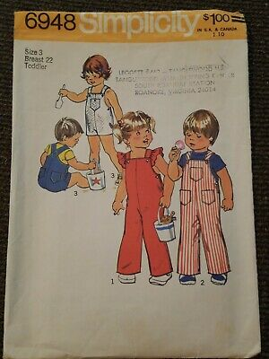 9290 Vintage Simplicity Sewing Pattern Toddler Jumpsuit Bubblesuit 2 Lengths OOP