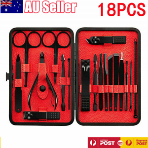 7-18pcs-Stainless-Nail-Kits-Manicure-Pedicure-Set-Nail-Clipper-Leather-Case