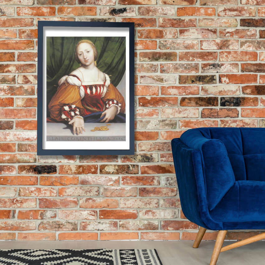 Hans The Younger - Lais of Corinth Wand Kunst Poster Drucken