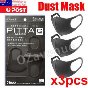 3pcs Washable Unisex Face Mask Mouth Masks Protective Cover Reusable Au Stock Ebay
