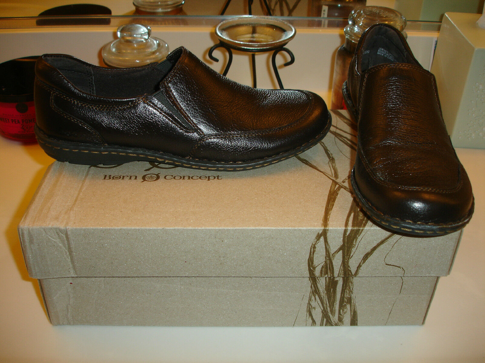 B.O.C. Marelly marrone Pelle Shoe Comfort  90 Quality Styllish Nice 8.5