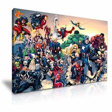 Marvel DC Comic Superheroes Canvas Wall Art 76x50cm / 30x20inch