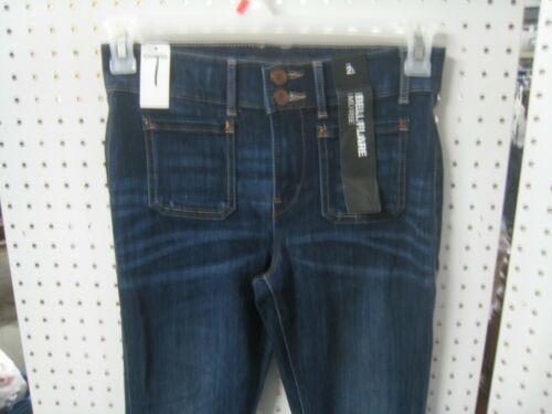Bell Flare Mid Rise New Ladies Express Jeans 2 Button Closure with Zipper