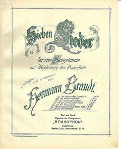034-Waldesrauschen-034-von-Hermann-Brandt-uebergrosse-alte-Noten