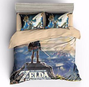 3d Kids Bedding Set The Legend Of Zelda Duvet Cover Sets Quilt Cover Pillow Case Ebay