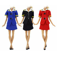 Stewardess Dress Handmade Fashion  Clothes For Barbie  Doll Party Selling HOT