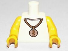 LEGO - Minifig, Torso Gold Medallion with Dollar Sign Pattern - White