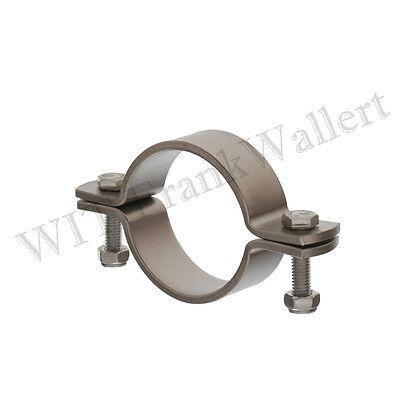 Edelstahl Rohr Rohrschelle Schelle V2A ohne Schaft 1.4301 inkl.Schrauben+Muttern