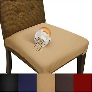 Details about Dining Seat Cover and Chair Protector - Washable, Waterproof,  Not Vinyl