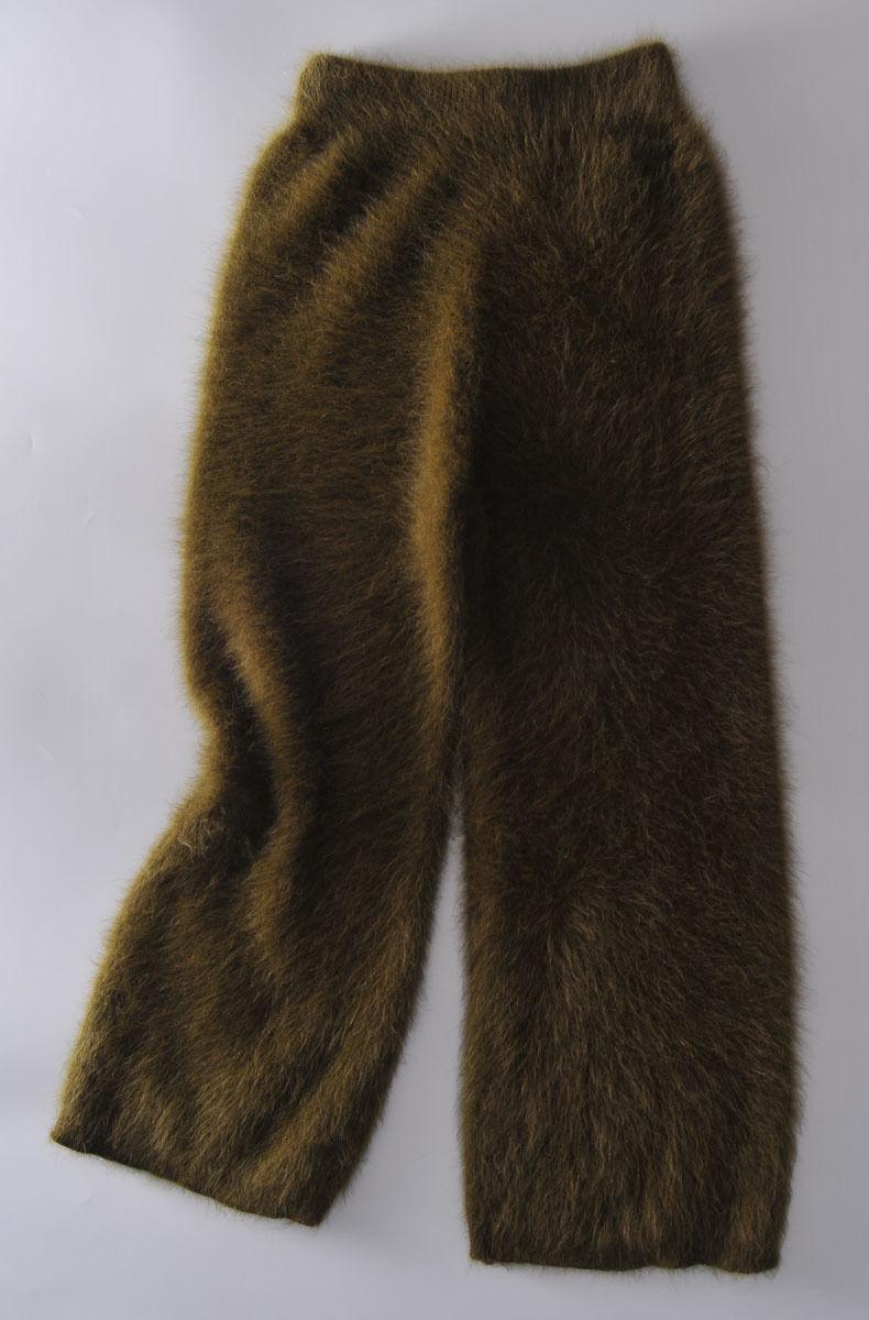 Women warm casual mink cashmere Broad leg pants ladies long  fashion trousers
