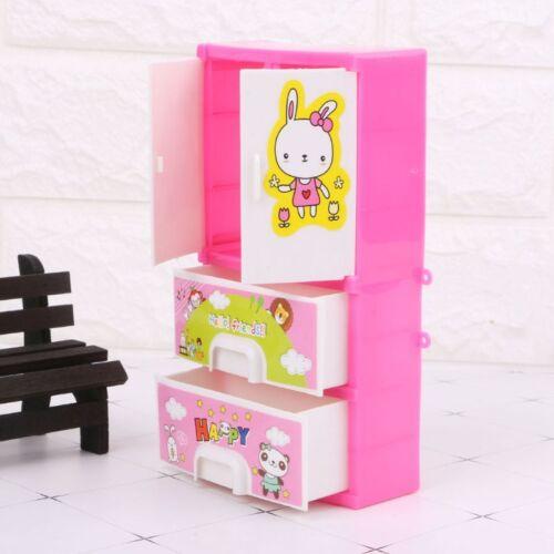 NEW Cartoon Rabbit Closet Wardrobe Doll Accessories For Doll Girls Toy