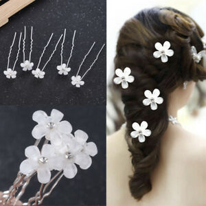 Wedding-Flower-Hair-Pins-Comb-Bridal-Clips-Crystal-Pearl-Bridesmaid-Accessories
