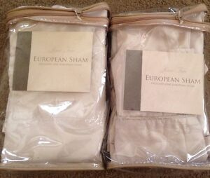 Rose Tree Crystal Collection Euro Shams(PAIR)-26<wbr/>x26-New-$100 Retail