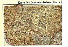 1915 * XXL WAR MAP Karte des österreichisch-serbischen Kriegsschauplatzes * WW 1