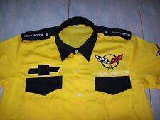 Nuevo Corvette c5 fan-camisa amarillo/negro camisa blouse camisa chemise camicia