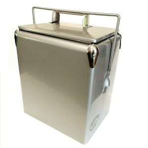 Retro Cool box PLAIN RED Cooler 17L Vintage Coolbox wedding present AAC