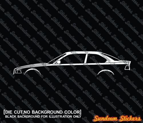 for BMW e36 3-series 325i 328i coupe 2x car silhouette stickers